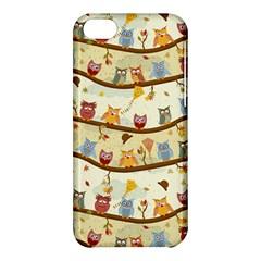 Autumn Owls Apple Iphone 5c Hardshell Case by Ancello