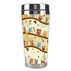 Autumn Owls Stainless Steel Travel Tumbler by Ancello