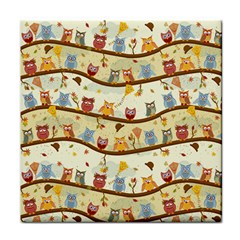 Autumn Owls Face Towel by Ancello
