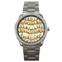 Autumn Owls Sport Metal Watch by Ancello