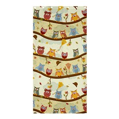 Autumn Owls Shower Curtain 36  X 72  (stall) by Ancello