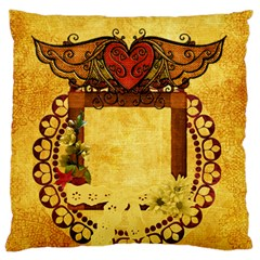 Natural Woman Pillow By Cherish Collages   Large Cushion Case (two Sides)   T5y4nxiknatt   Www Artscow Com Front