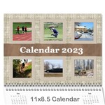 Male Calendar No 1 (any year) - Wall Calendar 11  x 8.5  (12-Months)