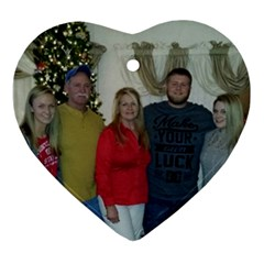 The Kromenacker Family By Monica Bell   Heart Ornament (two Sides)   23q2wmf3bkca   Www Artscow Com Front