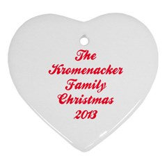 The Kromenacker Family By Monica Bell   Heart Ornament (two Sides)   23q2wmf3bkca   Www Artscow Com Back