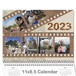 Male Calendar No 2 (any year) - Wall Calendar 11  x 8.5  (12-Months)