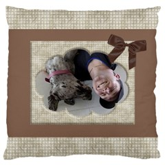 Chocolate Large Cushion Case (2 Sided) By Deborah   Large Cushion Case (two Sides)   Yeoytk98p44z   Www Artscow Com Front