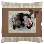 Chocolate large Cushion Case (2 sided) - Large Cushion Case (Two Sides)