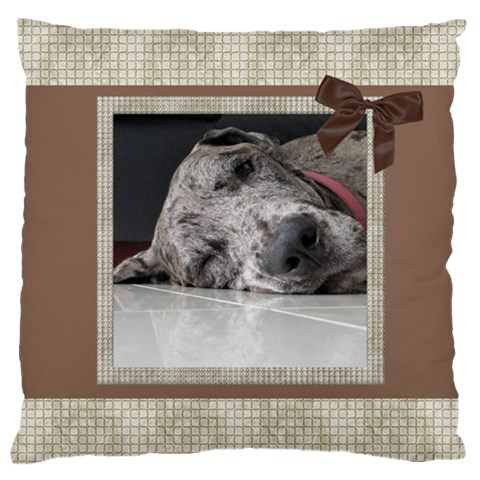 Chocolate Large Cushion Case By Deborah   Large Cushion Case (one Side)   8nocr1uz23p5   Www Artscow Com Front