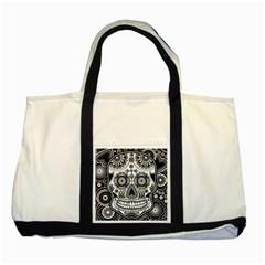 Skull Two Tone Tote Bag by Ancello