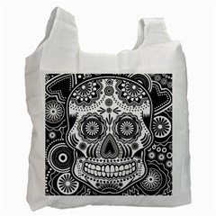 Skull Recycle Bag (one Side) by Ancello