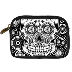 Skull Digital Camera Leather Case by Ancello