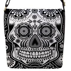 Skull Flap Closure Messenger Bag (small) by Ancello
