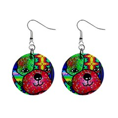 Pug Mini Button Earrings