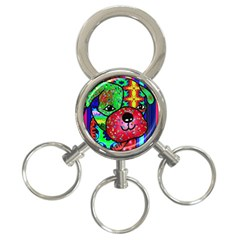 Pug 3-Ring Key Chain by Siebenhuehner