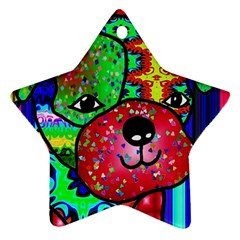 Pug Star Ornament (two Sides)