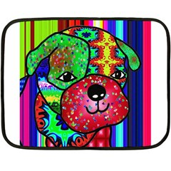 Pug Mini Fleece Blanket (two Sided)