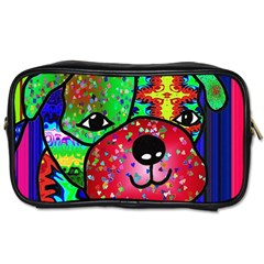 Pug Travel Toiletry Bag (two Sides) by Siebenhuehner