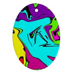 Abstract Oval Ornament by Siebenhuehner