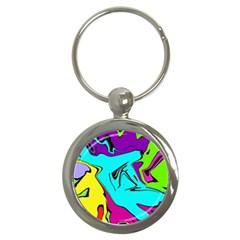 Abstract Key Chain (round) by Siebenhuehner