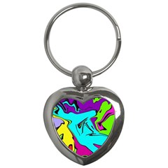 Abstract Key Chain (heart) by Siebenhuehner