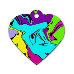 Abstract Dog Tag Heart (two Sided) by Siebenhuehner