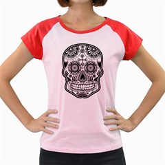 sugar skull Women s Cap Sleeve T-Shirt by Ancello