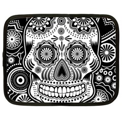 Sugar Skull Netbook Sleeve (xl) by Ancello