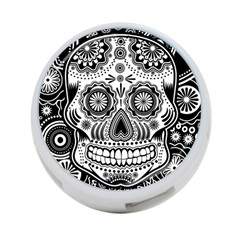Sugar Skull 4 Port Usb Hub (one Side) by Ancello