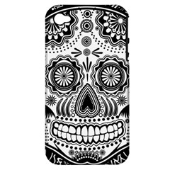 Sugar Skull Apple Iphone 4/4s Hardshell Case (pc+silicone) by Ancello