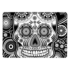 Sugar Skull Samsung Galaxy Tab 10 1  P7500 Flip Case by Ancello