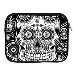 Sugar Skull Apple Ipad Zippered Sleeve by Ancello