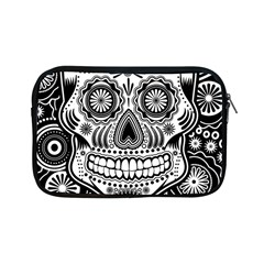 Sugar Skull Apple Ipad Mini Zippered Sleeve by Ancello