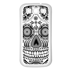 Sugar Skull Samsung Galaxy S3 Back Case (white) by Ancello