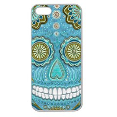 Skull Apple Seamless Iphone 5 Case (clear)