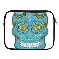 Skull Apple Ipad Zippered Sleeve by Ancello