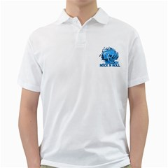 Hellishrock N Rollblue Mens  Polo Shirt (white) by Coffeyscrossroad