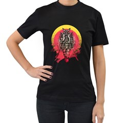 Blood Samurai Womens' Two Sided T-shirt (Black) by Contest1731890