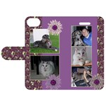 Purple Apple iPhone 5S Leather Folio Case - Apple iPhone 5S/ SE Leather Folio Case