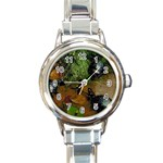 Baby Turtles Round Italian Charm Watch