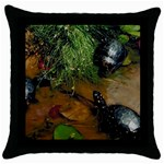 Baby Turtles Throw Pillow Case (Black)