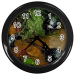 Baby Turtles Wall Clock (Black)