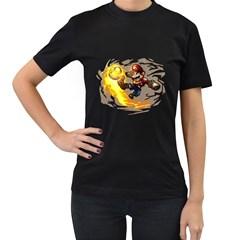 Mario Womens' Two Sided T Shirt (black)