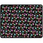 happy owls Fleece Blanket (Medium) 60 x50 Blanket Front