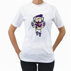 Stylish Monster  Womens  T Shirt (white) by Contest1741741