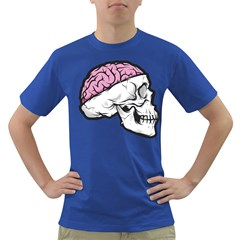 Skull & Brain Mens' T-shirt (Colored) by Contest1741741