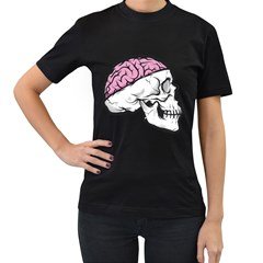 Skull & Brain Womens' T Shirt (black) by Contest1741741