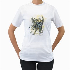 Pirate Skull Womens  T Shirt (white) by Contest1814230