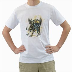 Pirate Skull Mens  T Shirt (white)