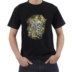 Pirate Skull Mens' Two Sided T Shirt (black) by Contest1814230